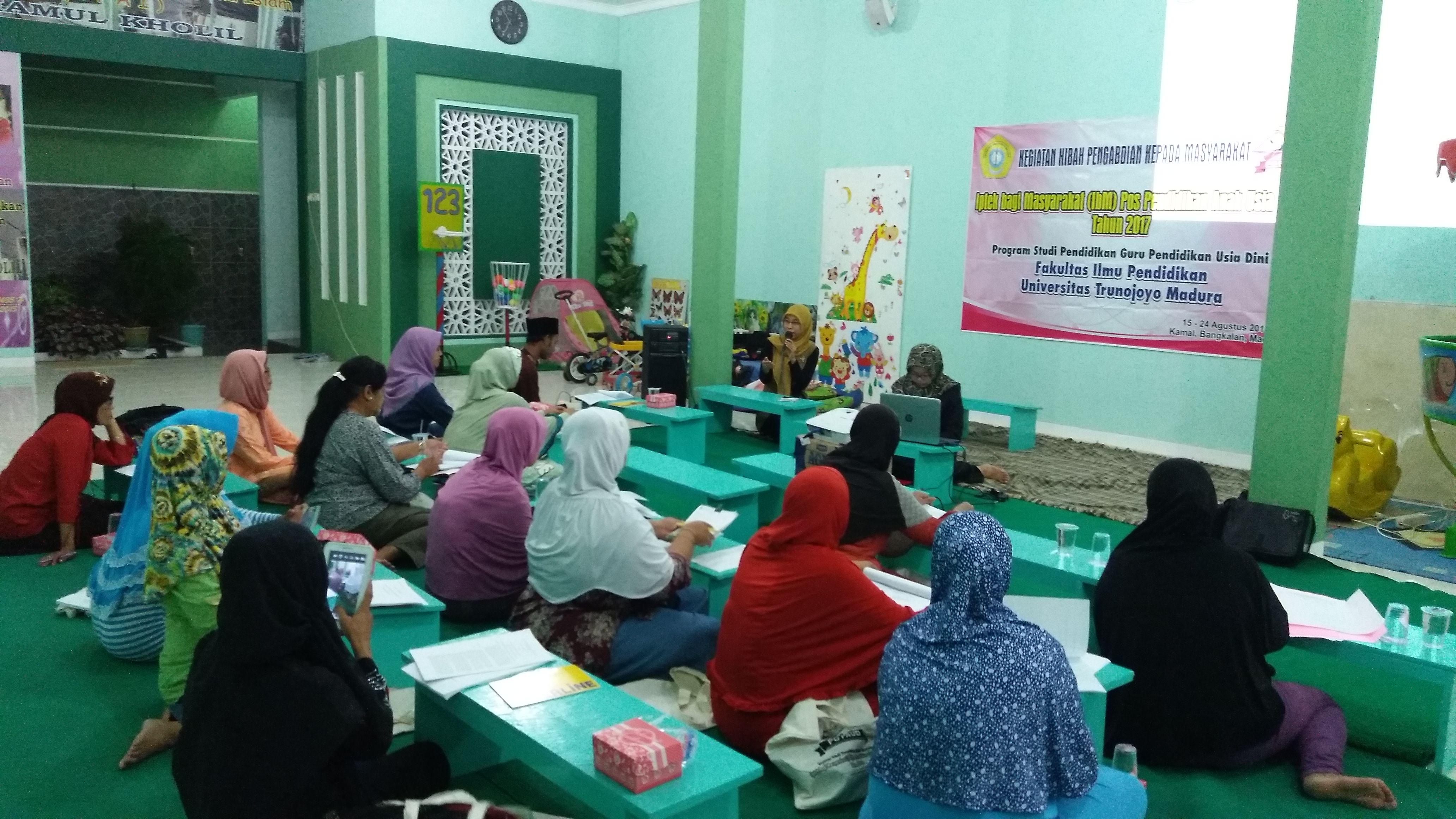 Pelatihan Penyusunan Perencanaan Pembelajaran PAUD Kurikulum 2013